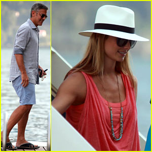 George Clooney & Stacy Keibler: Lake Como Couple!