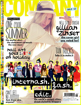 Gillian Zinser Covers 'Company Magazine' August 2012