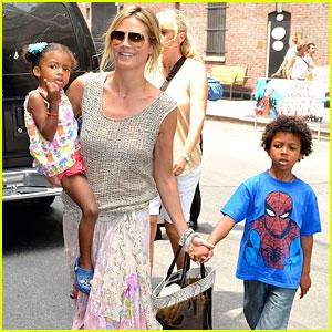 Heidi Klum: Broadway's 'Newsies' with the Kids!