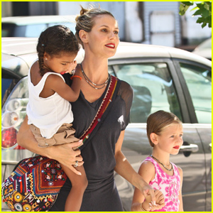 Heidi Klum, Leni, & Lou: Red Lips Trio!
