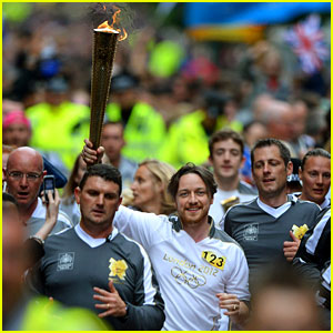 James McAvoy Runs with the Olympic Torch!