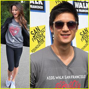 Jamie Chung & Harry Shum Jr.: AIDS Walk San Francisco!