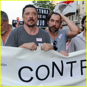 Javier Bardem: Madrid Protester with Brother Carlos!