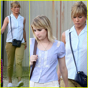 Jennifer Aniston: 'We're the Millers' Set with Emma Roberts!