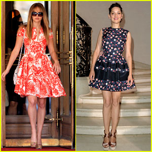 Jennifer Lawrence & Marion Cotillard: Dior Darlings!