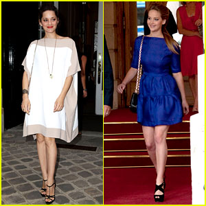 Jennifer Lawrence & Marion Cotillard: Dior After Party!