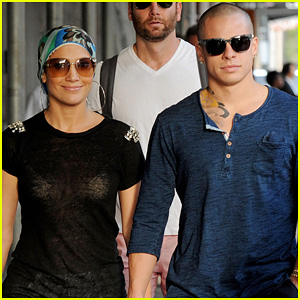 Jennifer Lopez & Casper Smart: Pastis Twosome!