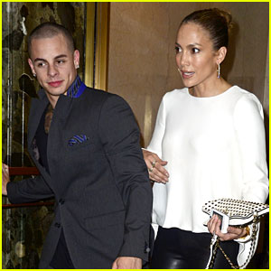 Jennifer Lopez: Pre-Birthday Dinner with Casper Smart!