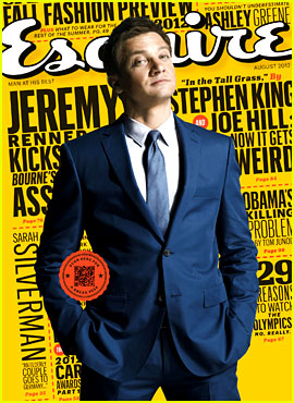 Jeremy Renner Covers 'Esquire' August 2012