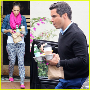 Jessica Alba & Cash Warren: Coffee House Stop