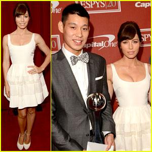 Jessica Biel & Jeremy Lin - ESPY Awards 2012