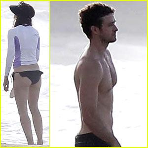 Jessica Biel & Shirtless Justin Timberlake: Puerto Rico Beach Break!