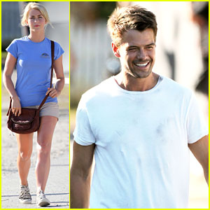 Set with Julianne Hough! | Josh Duhamel, Julianne Hough : Just Jared