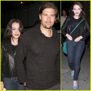 Kat Dennings: Chateau Marmont with Nick Zano!