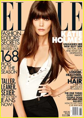 Katie Holmes Talks Tom Cruise in 'Elle' Magazine's August Issue