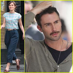Keira Knightley & Adam Levine: 'Song' Set Break!