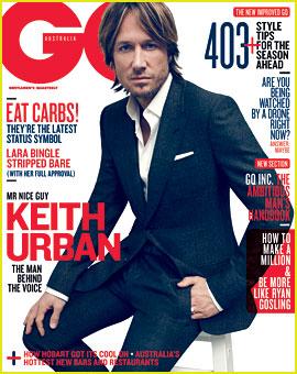 Keith Urban Covers 'GQ Australia' August 2012