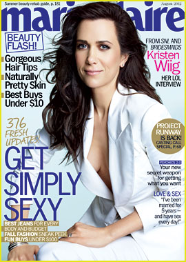 Kristen Wiig Covers 'Marie Claire' August 2012