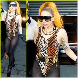 Lady Gaga: Leopard Leotard in Melbourne!
