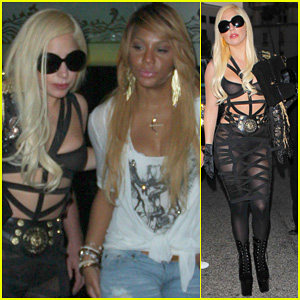 Lady Gaga: Mr. Chow's with The Braxtons!