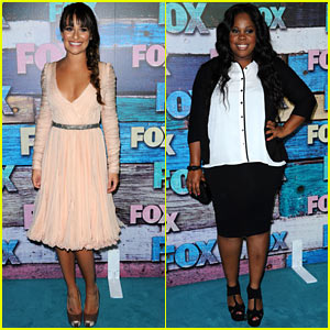 Lea Michele: Fox All-Star Party with Amber Riley!