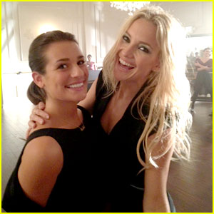 Lea Michele & Kate Hudson on 'Glee' Set - First Look!
