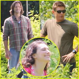 Liane Balaban: 'Supernatural' Set with Jared & Jensen!
