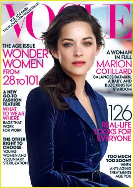 Marion Cotillard Covers 'Vogue' August 2012