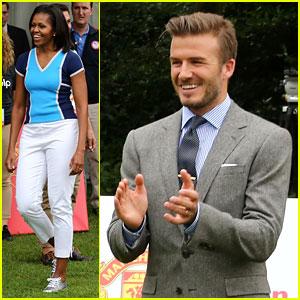 Michelle Obama & David Beckham Prep for London Olympics!