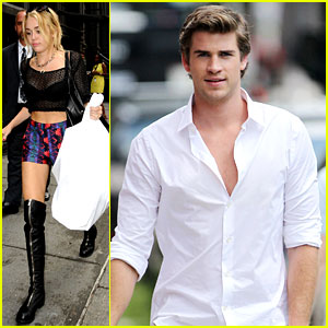 Miley Cyrus Shops in NYC & Liam Hemsworth Films in Philly!