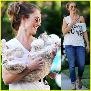 Minka Kelly: Afternoon Walk with Chewy!