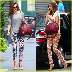 Miranda Kerr: Floral Pants Lover in NYC!