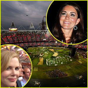 Nicole Kidman, Royals & More Watch London Olympics Opening Ceremony - Pics!