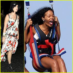 Rihanna Goes Parasailing, Katy Perry Checks Out Concert