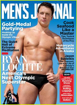 Olympic Swimmer Ryan Lochte: Shirtless for 'Men's Journal'!