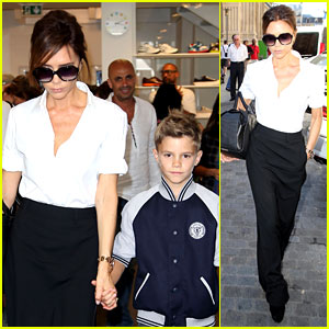 Victoria Beckham: Parisian Shopping Spree with Romeo!