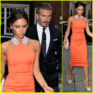 Victoria & David Beckham: Simon Fuller's Birthday Party!