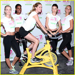 Victoria's Secret Angels: SoulCycle for Cancer Research!