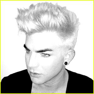 Adam Lambert Debuts Bleached Blonde Hairdo!