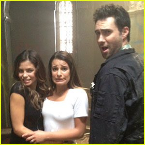 Adam Levine: 'American Horror Story' Set with Jenna Dewan!