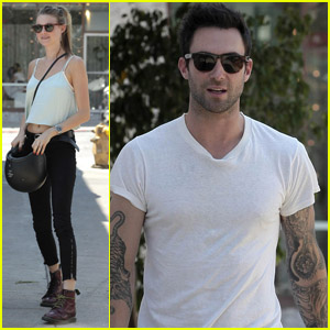 Adam Levine & Behati Prinsloo: Mustard Seed Cafe Lunch!