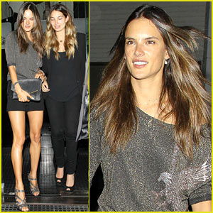 Alessandra Ambrosio & Lily Aldridge: Mr. Chow's Night Out!
