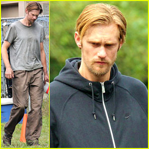 Alexander Skarsgard: 'Hidden' Set with Andrea Riseborough!