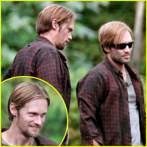 Alexander Skarsgard: 'Hidden' Set with Body Double!