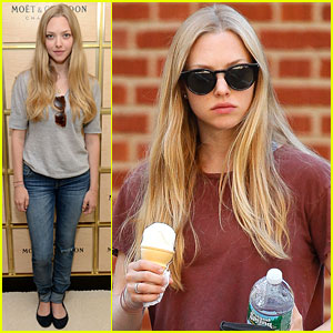 Amanda Seyfried: U.S. Open & Ice Cream Cone Cutie!