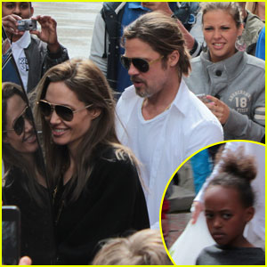 Angelina Jolie & Brad Pitt: Le Touquet with the Kids!