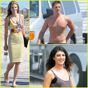 AnnaLynne McCord: '90210' Set with the Crew!