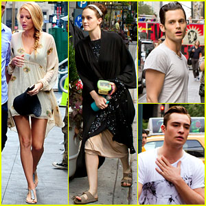 Blake Lively & Leighton Meester: 'Gossip Girl' with the Boys!