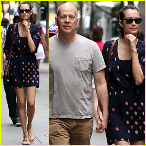 Bruce Willis: Remi Restaurant with Emma Heming
