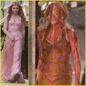 Chloe Moretz: Blood Soaked on 'Carrie' Set!